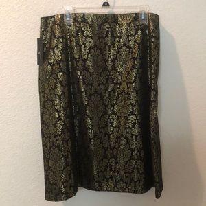 Worthington Black Jacquard Skirt